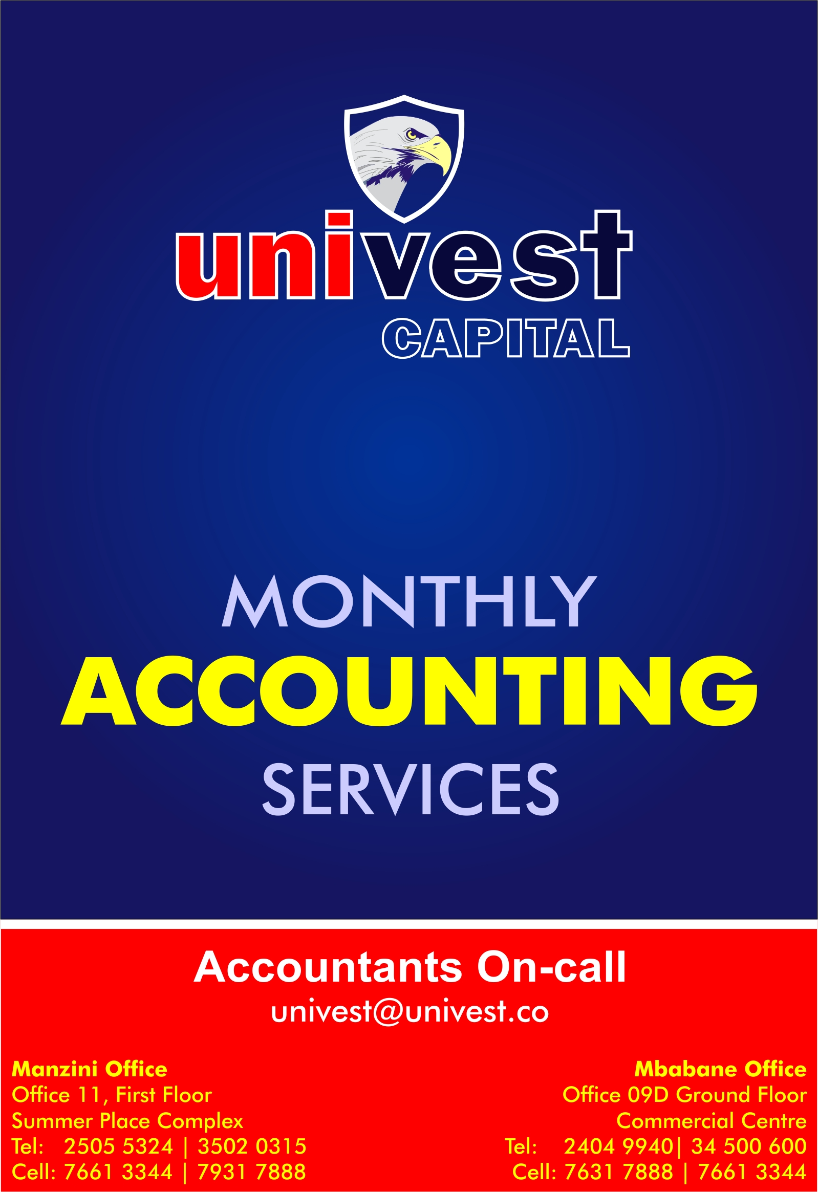 Univest Monthly Accounting Services P1